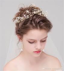 gold headpiece vintage wedding bridal gold crown tiara headpiece headband