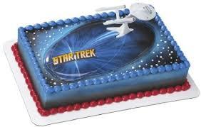 amazon com star trek ncc1701 enterprise cake topper kitchen u0026 dining