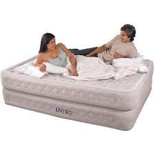 intex supreme air flow queen air mattress bed with built in air