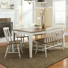 white dining room table bench chairs with built in seating seat
