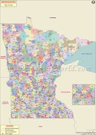 State Capitol Map by Minnesota Zip Code Map Minnesota Postal Code