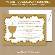 holy communion invitations holy communion invitations printable gold communion