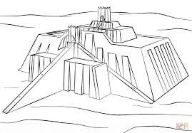 ziggurat of ur coloring page free printable coloring pages