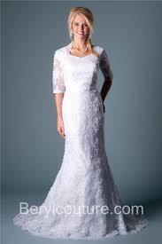 mermaid queen anne neckline short sleeve lace beaded modest