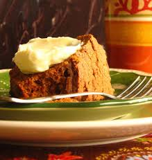 pumpkin spice pound cake with cream cheese frosting home is