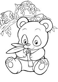 panda coloring pages for kids coloringstar