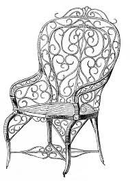 Wooden Chair Clipart Png Vintage Clip Art Wicker Garden Chair Vintage Clip Art Vintage