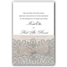 silver wedding invitations glittered and pleated silver wedding invitations paperstyle