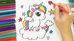 how to draw a cartoon unicorn cute and easy bodraw youtube