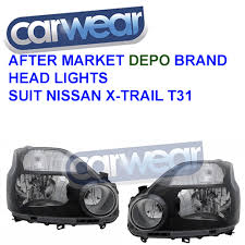 Depo Auto Lamp Indonesia by Black Halogen Head Lights For Nissan X Trail T31 07 09 Ebay