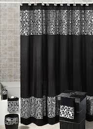 Fabric Shower Curtain With Window Hookless Fabric Shower Curtain With Window New Gorgeous Black