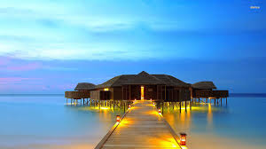 bungalows in the maldives walldevil