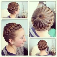 cute girl hairstyles diy starburst crown braid updo hairstyles cute girls hairstyles