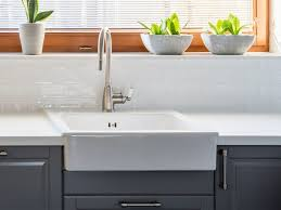 how to install an apron sink in an existing cabinet can a farmhouse sink be used with a laminate countertop