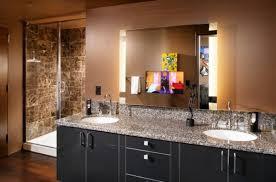Dark Vanity Bathroom Bathrooms Minimalist Vanity Bathroom With Small Mirror And
