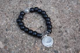 sterling bead bracelet images Black wood bead bracelet with sterling discs katie m jewelry jpg
