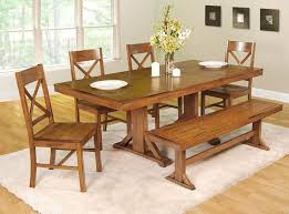 Bench Style Dining Tables Furniture Diy Dining Table Bench Dining Table Easy Room Sets