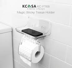 tissue paper box kcasa kc ft68 bathroom magical sticky tissue holder waterproof