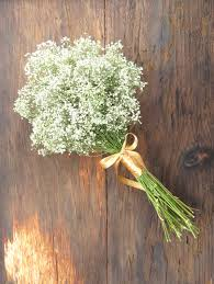 baby s breath bouquet simple dried baby s breath bouquet medium wedding