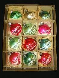 vintage shiny brite glitter lace mercury glass ornaments