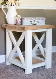 Rustic Side Tables Living Room Custom Farmhouse End Table Rustic Side Table Living Room