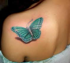 big daisy with butterfly tattoo design in 2017 real photo