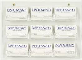 9 pocket wall mounting business card display
