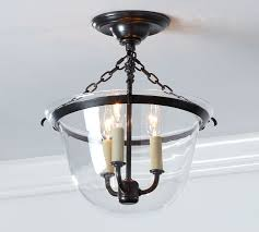 Flush Lighting Fixtures Hundi Flushmount Pottery Barn