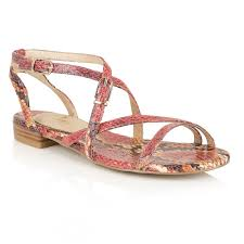 buy ravel ladies u0027 saratoga flat sandals online in coral snake print