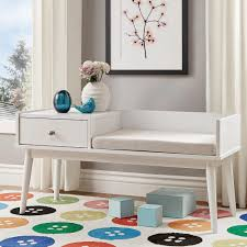 White Entryway Furniture Homesullivan Langley White Telephone Bench 40863ey 14wh The Home