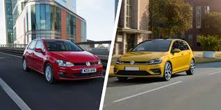old volkswagen golf 2017 vw golf mk7 facelift old vs new compared carwow