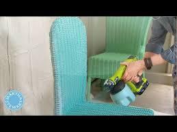 ask martha spray painting wicker chairs martha stewart youtube