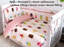 Beige Crib Bedding Set Promotion 6 7 9pcs Baby Bedding Sets For Boy Newborn Beige Crib