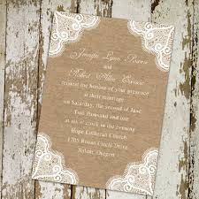 burlap wedding rustic burlap and lace wedding invitations ewi244 as low as 0 94