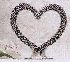 heart wedding cake toppers celtic heart cake topper pewter celtic wedding cake top