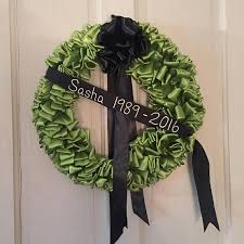 wreath mourning wreath black ribbon 18 inch in remembrance in
