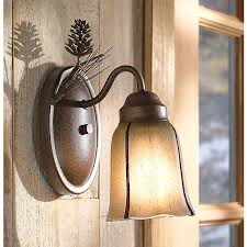 Glass Wall Sconce Rustic Wall Sconces Pinecone Glass Wall Sconce Black Forest
