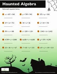 halloween algebra worksheets worksheets