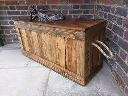 Trunk Ottoman Rustic Trunk Bench Storage Chest Casket Ottoman Seat Handcrafted