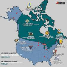 Dca Map The Wide And Not So Wide World Of The Wcha The Northern Light