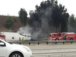 Sigalert San Diego Map by Oil Spill Truck Fire Cause Traffic Jam On 10 215 Freeways In San