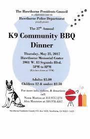 37th annual k9 community bbq dinner u2014 hawthorne california