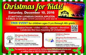 christmas for kids st matthew lutheran church