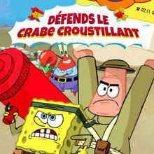 jeux de bob l 駱onge qui cuisine jeux de bob l éponge défends le crabe croustillant fr hellokids com