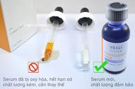 Serum Oxy c罍ch nh蘯ュn bi蘯ソt ch蘯 t l豌盻 ng s蘯 n ph蘯ゥm obagi qua m罌u s蘯ッc