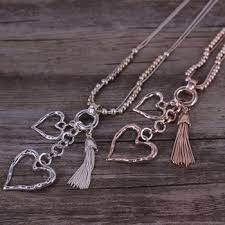 jewelry fashion necklace images P c fashion jewelry rose gold silver plating zinc alloy heart jpg