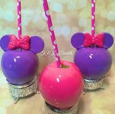 custom minnie mouse candy apples by apples2love stuff to buy