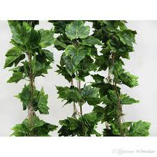 ivy home decor wholesale like real artificial silk grape leaf garland faux vine
