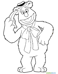 muppets coloring pages print free fozzie bear creativemove