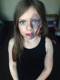 half and half face halloween makeup mua crystal miller model